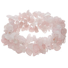Buy John Lewis Quartz Beaded Stretch Bracelet, Rose Online at johnlewis.com