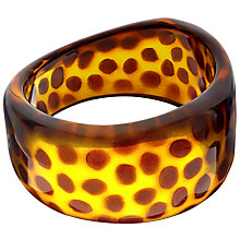 Buy John Lewis Resin Spot Bangle, Tortoise Online at johnlewis.com