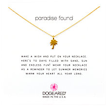 Buy Dogeared Mini Palm Tree Chain Necklace, Gold Online at johnlewis.com