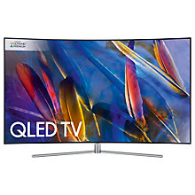 "Buy Samsung QE49Q7C Curved QLED HDR 1500 4K Ultra HD Smart TV, 49"" with Freeview HD/Freesat HD & 360 Design, Silver, UHD Premium Online at johnlewis.com"