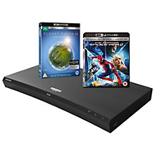Buy Samsung UBD-M9500 Curved Smart Bluetooth 4K UHD Blu-Ray/DVD Player Online at johnlewis.com