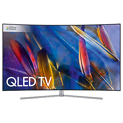 Samsung QE55Q7C Curved QLED HDR 1500 4K Ultra HD Smart TV, 55 with TVPlus/Freesat HD & 360 Design, Silver, Ultra HD Premium Certified