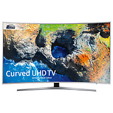 "Buy Samsung UE65MU6500 Curved HDR 4K Ultra HD Smart TV, 65"" with TVPlus/Freesat HD & Active Crystal Colour, Silver, Ultra HD Certified Online at johnlewis.com"