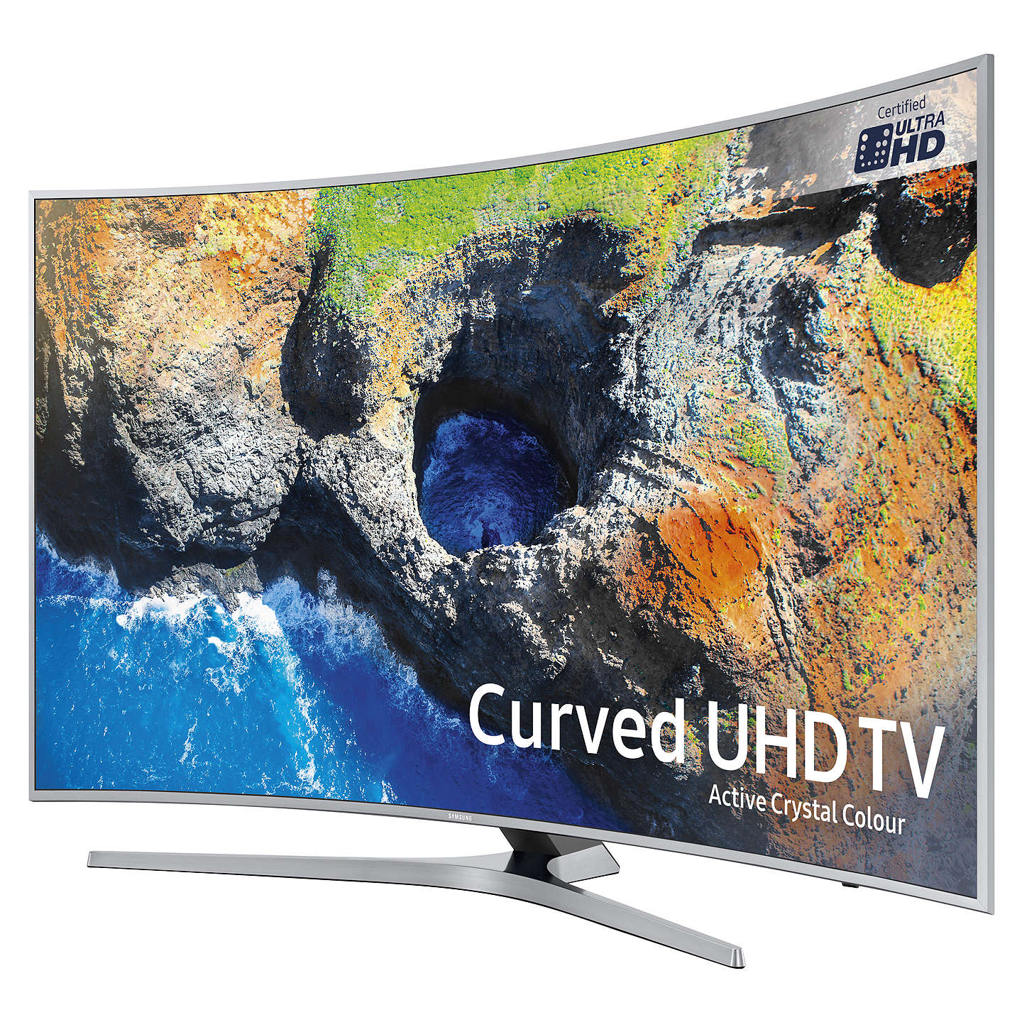 "BuySamsung UE65MU6500 Curved HDR 4K Ultra HD Smart TV, 65"" with TVPlus/Freesat HD & Active Crystal Colour, Ultra HD Certified, Silver Online at johnlewis.com"