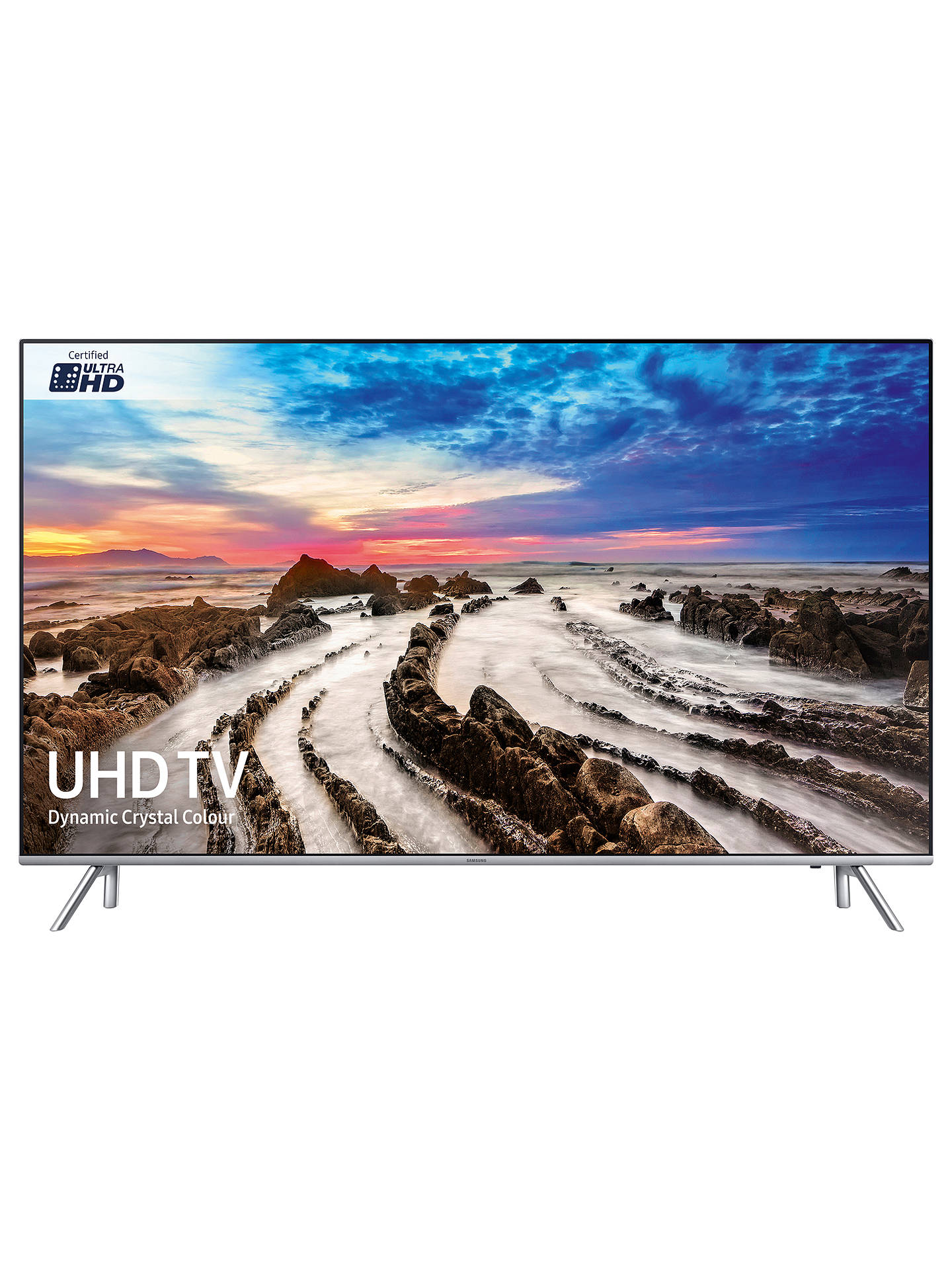 "BuySamsung UE49MU7000 HDR 1000 4K Ultra HD Smart TV, 49"" with TVPlus/Freesat HD, Active Crystal Colour & 360 Design, Ultra HD Certified, Silver Online at johnlewis.com"