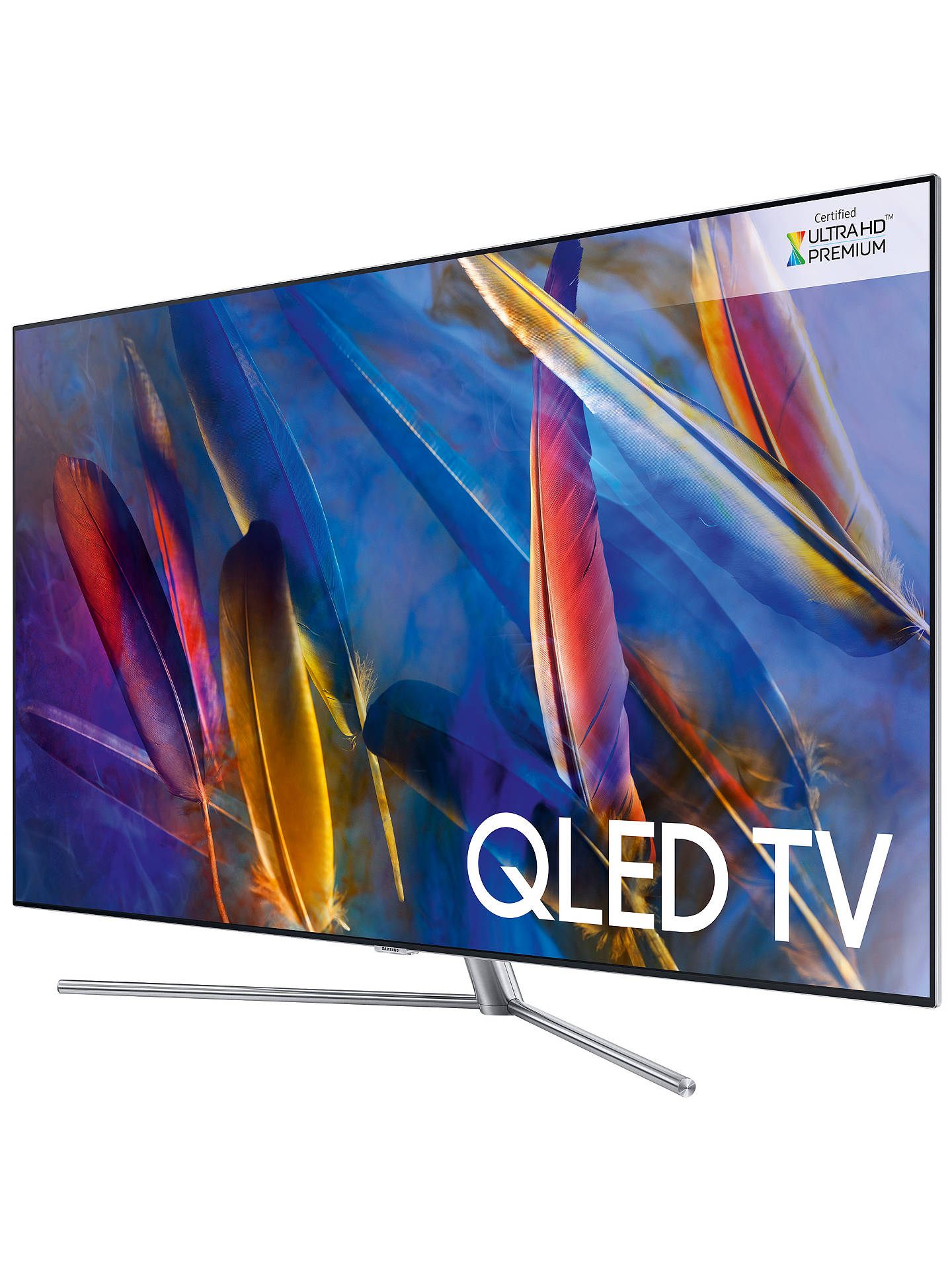 "BuySamsung QE49Q7F QLED HDR 1500 4K Ultra HD Smart TV, 49"" with TVPlus/Freesat HD & 360 Design, Ultra HD Premium Certified, Silver Online at johnlewis.com"