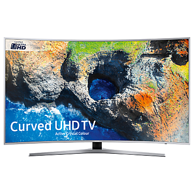 Samsung UE55MU6500 Curved HDR 4K Ultra HD Smart TV, 55 with TVPlus/Freesat HD & Active Crystal Colour, Silver, Ultra HD Certified