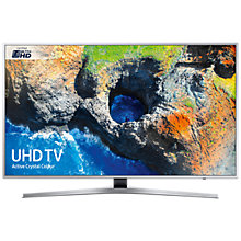 "Buy Samsung UE55MU6400 HDR 4K Ultra HD Smart TV, 55"" with TVPlus/Freesat HD & Active Crystal Colour, Silver, Ultra HD Certified Online at johnlewis.com"