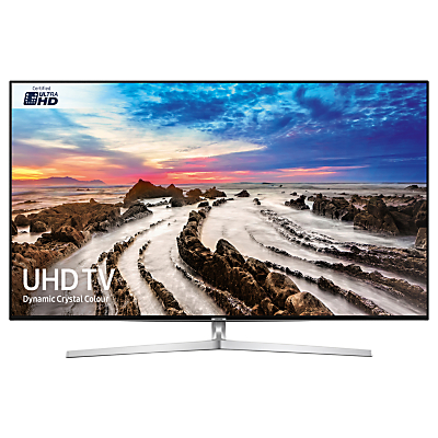 Samsung UE75MU8000 HDR 4K Ultra HD Smart TV, 75 with TVPlus/Freesat HD, Dynamic Crystal Colour & 360 Design, Silver, Ultra HD Certified