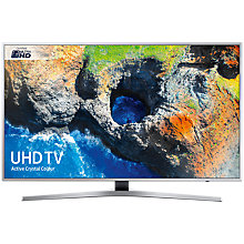 "Buy Samsung UE49MU6400 HDR 4K Ultra HD Smart TV, 49"" with TVPlus & Active Crystal Colour, Silver Online at johnlewis.com"