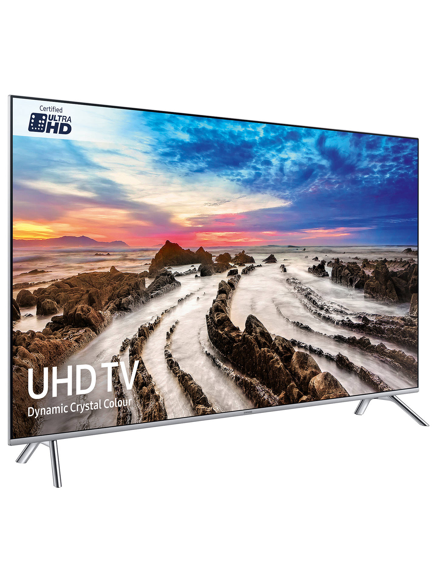 "BuySamsung UE65MU7000 HDR 1000 4K Ultra HD Smart TV, 65"" with TVPlus/Freesat HD, Dynamic Crystal Colour & 360 Design, Ultra HD Certified, Silver Online at johnlewis.com"