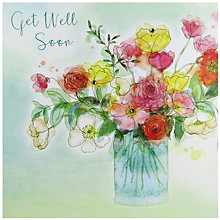 Buy Saffron Cards and Gifts Get Well Soon Card Online at johnlewis.com