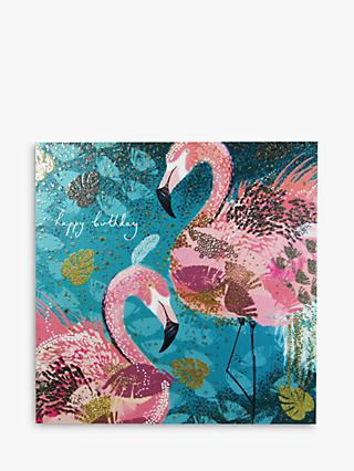 Woodmansterne Flamingos Happy Birthday Card