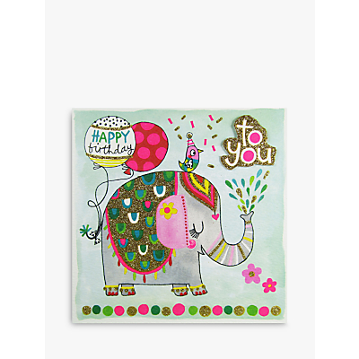 Image of Rachel Ellen Elephant Birthday Card