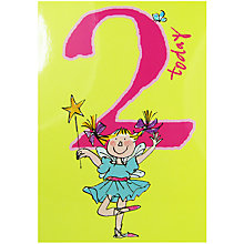 Buy Woodmansterne Girl With Magic Wand 2nd Birthday Card Online at johnlewis.com