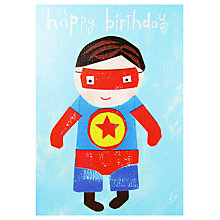 Buy Paper Salad Superman Birthday Card Online at johnlewis.com