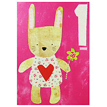 Buy Paper Salad Rabbit Age 1 Birthday Card Online at johnlewis.com