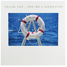 Buy Susan O'Hanlon 'Thank You...You're A Lifesaver' Lifebuoy Card Online at johnlewis.com