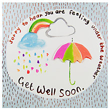 Buy Paper Salad Get Well Soon Weather Card Online at johnlewis.com