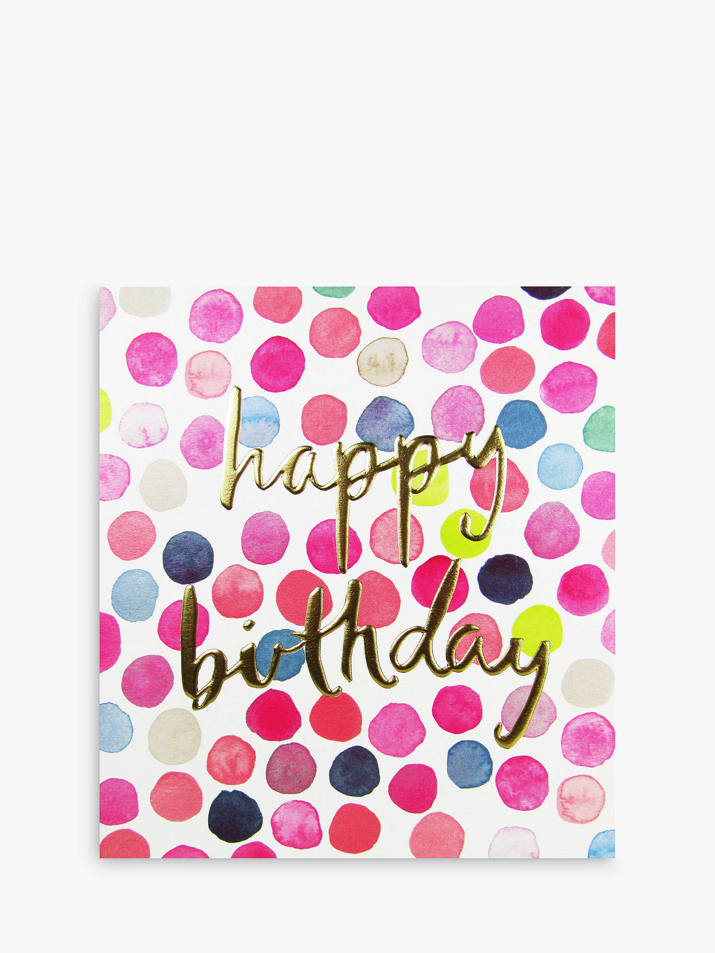 Buy The Proper Mail Company Polka Dots Happy Birthday Card Online At Johnlewis