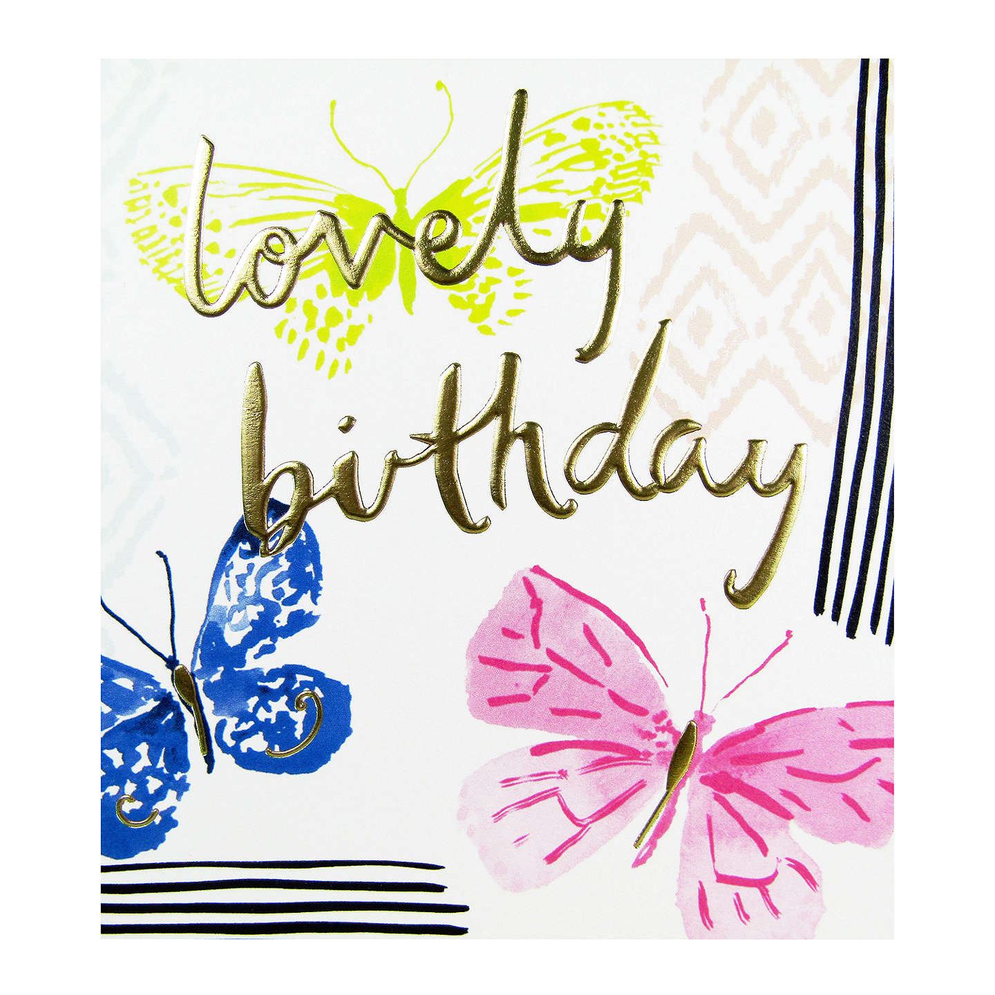 BuyThe Proper Mail Company Pastel Butterflies Birthday Card Online At Johnlewis