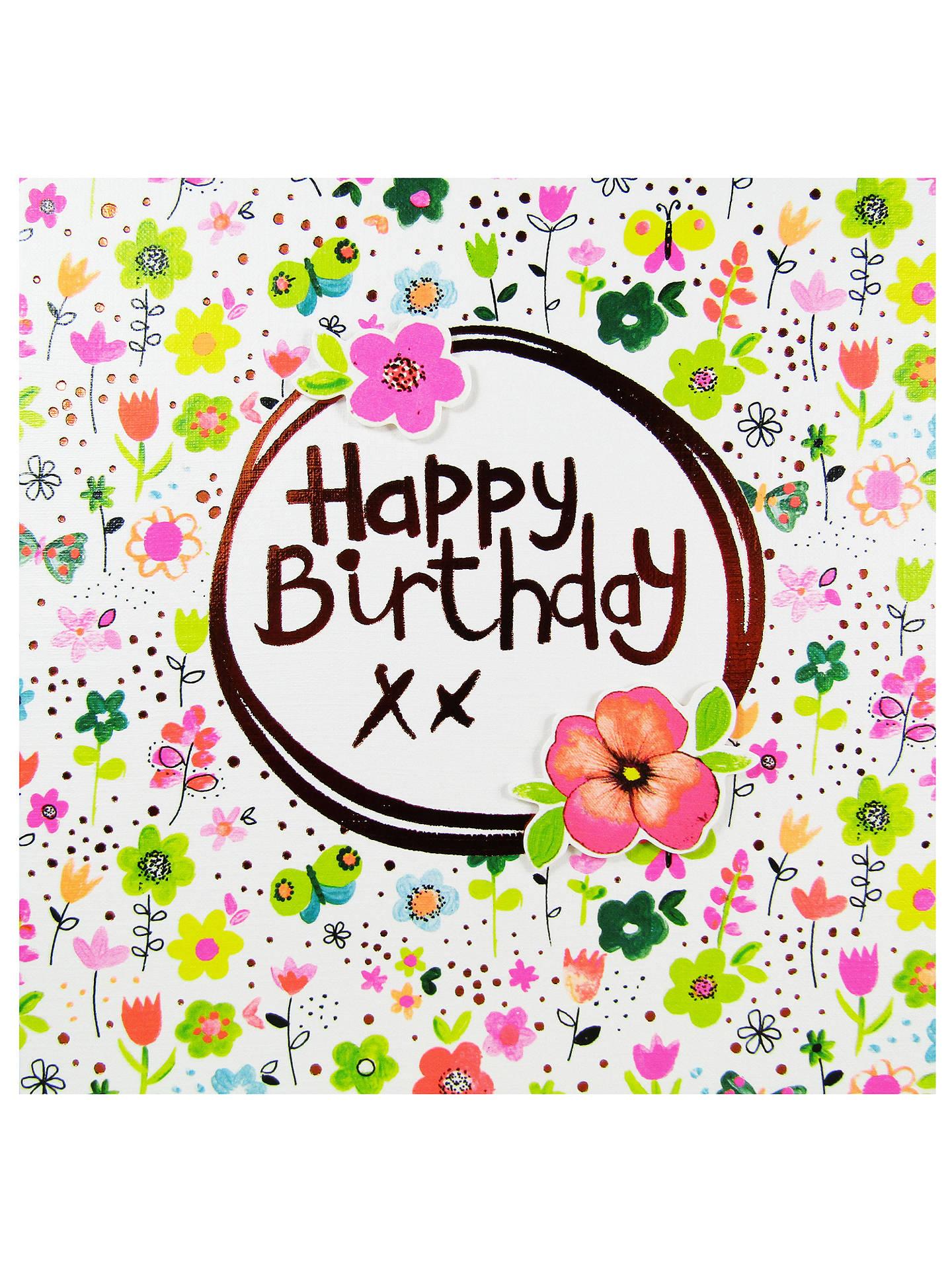 Paper Salad Happy Birthday Flower Card At John Lewis Partners