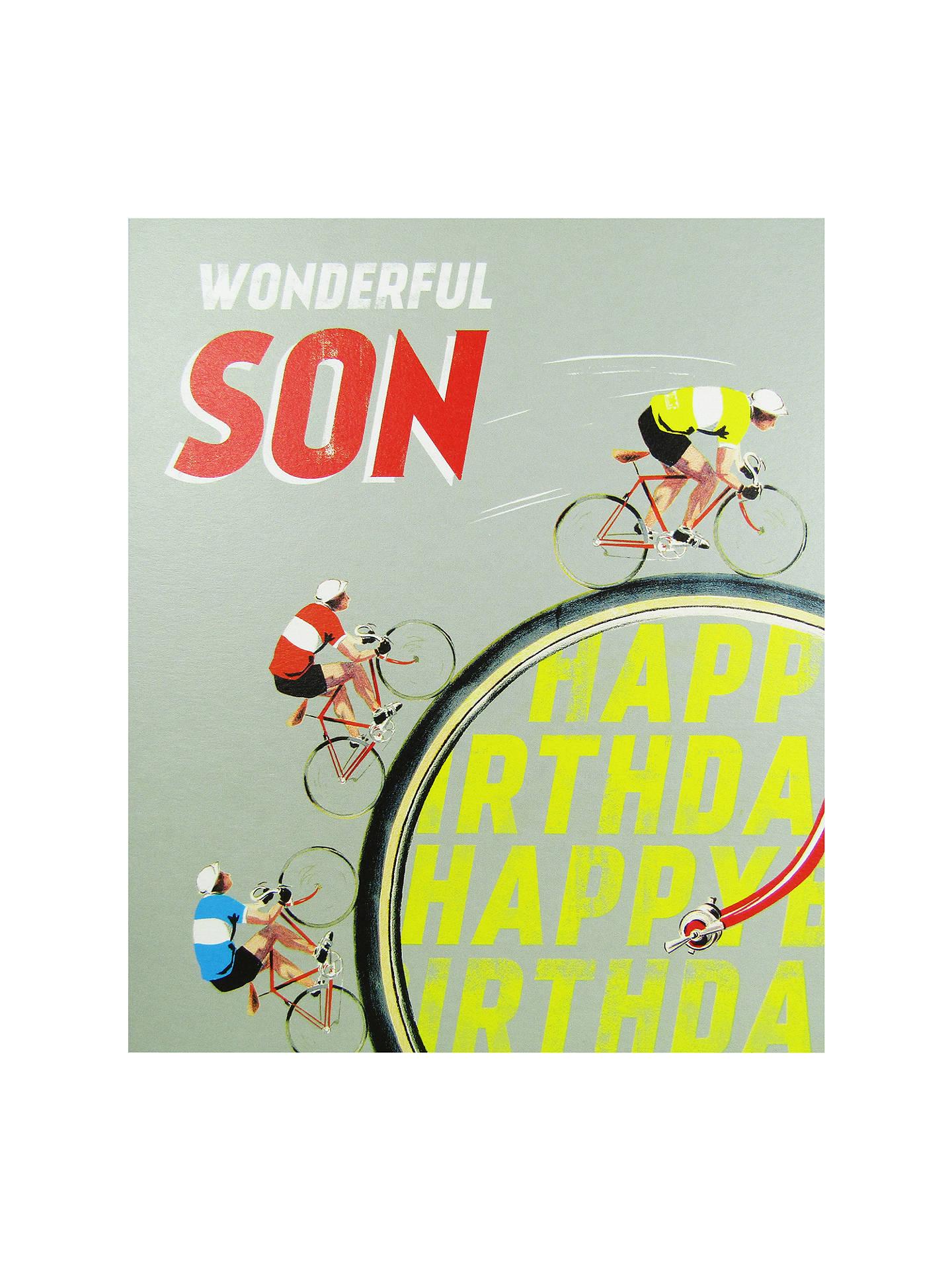 BuyWoodmansterne Wonderful Son Cycling Birthday Card Online At Johnlewis