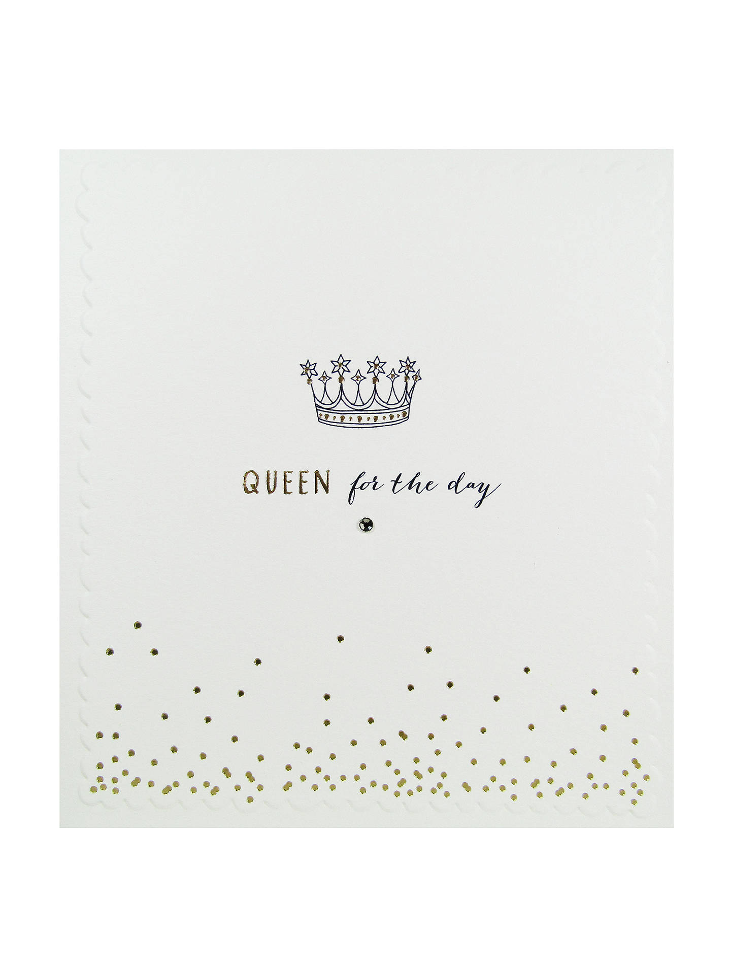 Buy The Proper Mail Company Queen For Day Birthday Card Online At Johnlewis