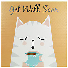 Buy Really Good Get Well Soon Cat Card Online at johnlewis.com