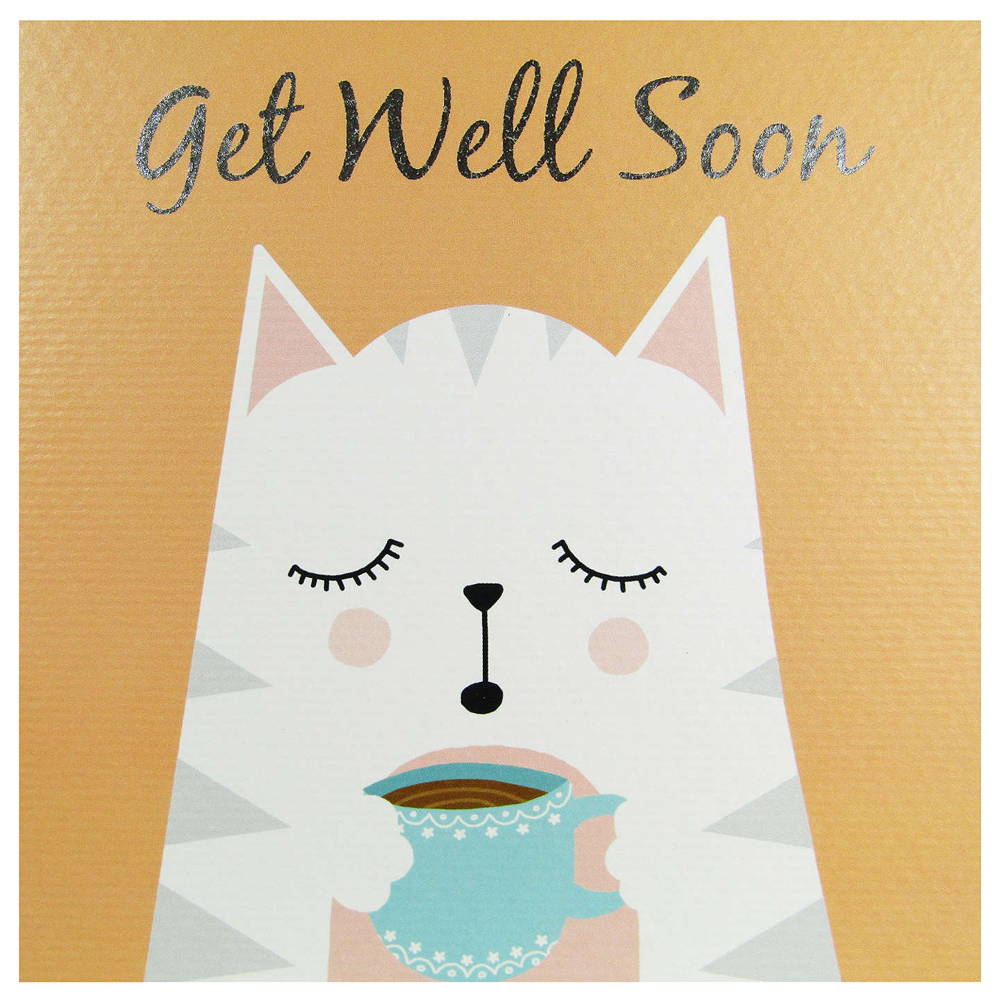 Really Good Get Well Soon Cat Card At John Lewis
