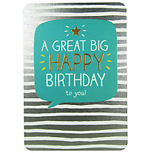 Buy Pigment Great Big Happy Birthday Card Online at johnlewis.com