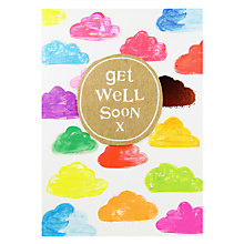 Buy Paper Salad Get Well Soon Cloud Card Online at johnlewis.com