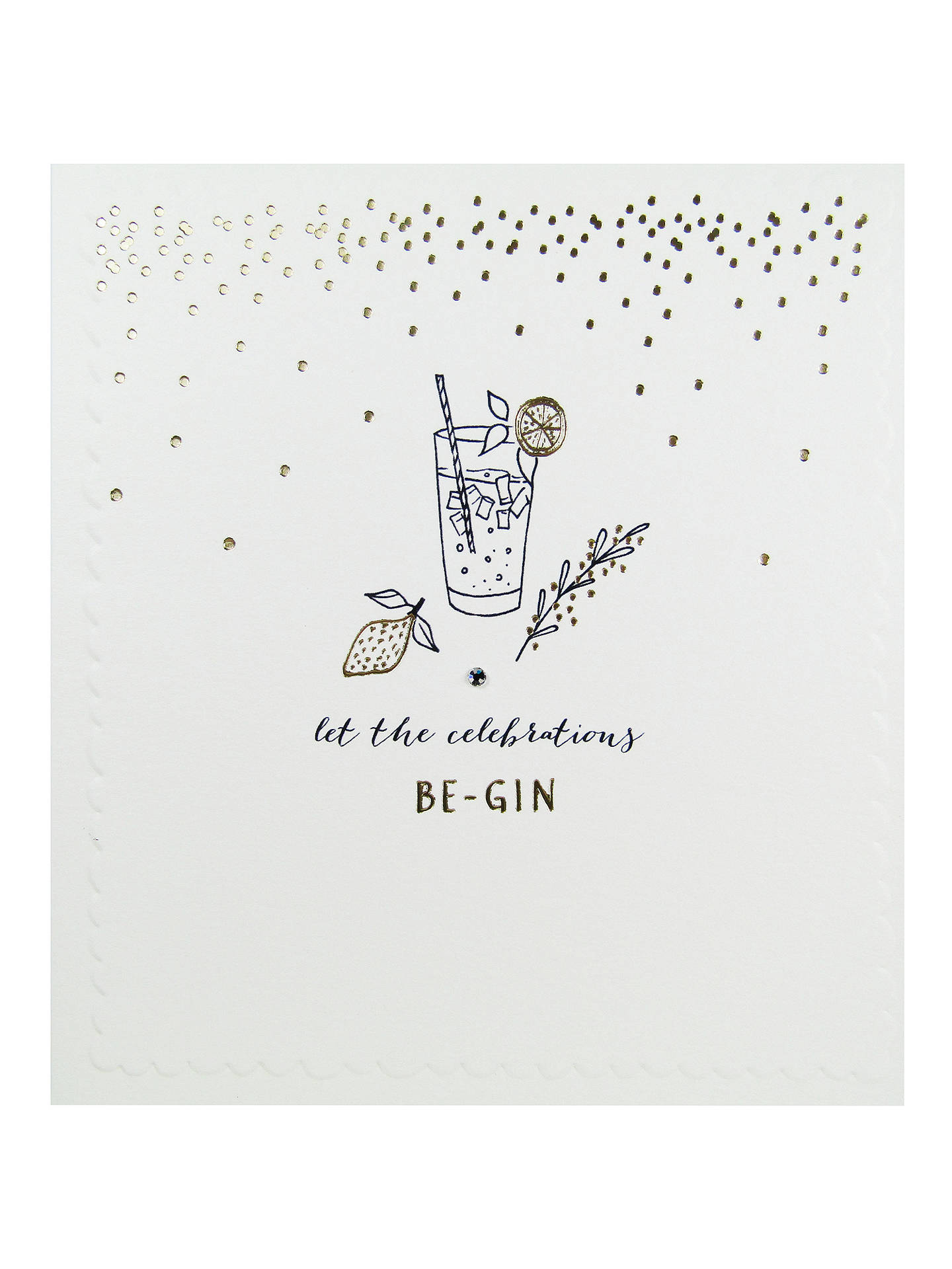 Buy The Proper Mail Company Gin And Tonic Birthday Card Online At Johnlewis