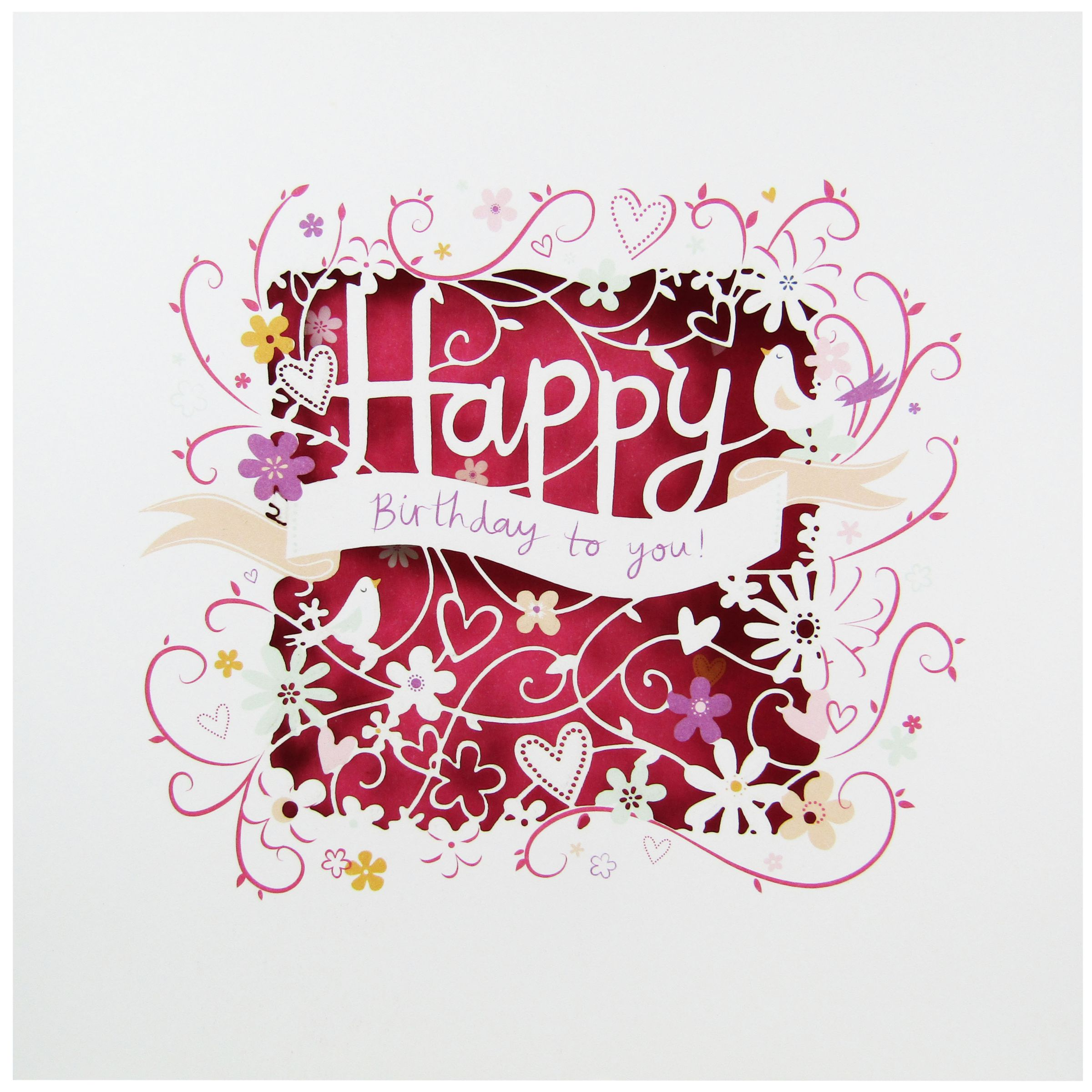 Paperlink Happy Birthday Greeting Card At John Lewis Partners