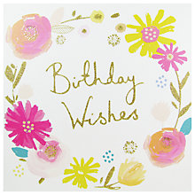 Buy Woodmansterne Birthday Wishes Greeting Card Online at johnlewis.com