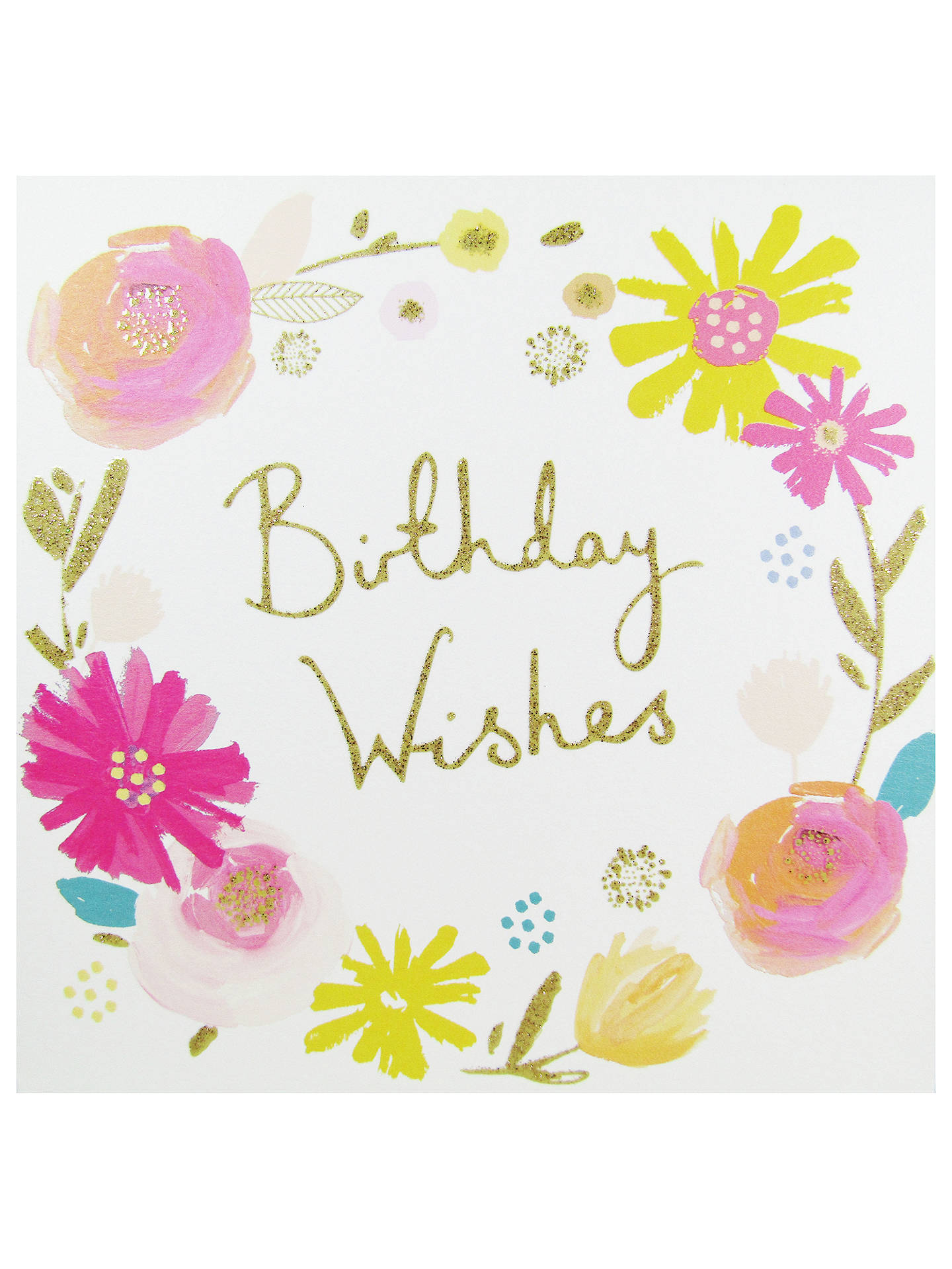 Woodmansterne Birthday Wishes Greeting Card At John Lewis Partners