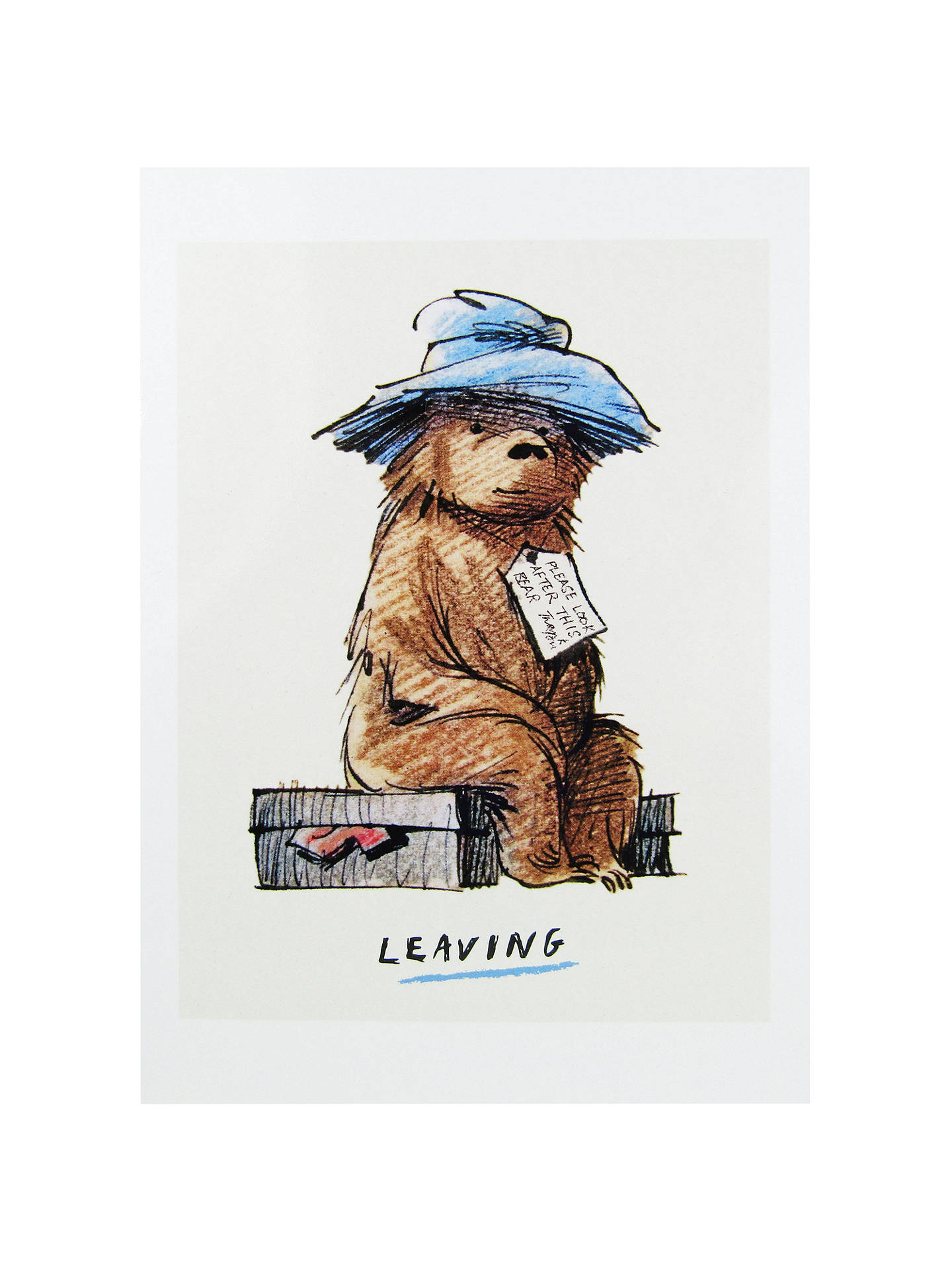 Mint Paddington Bear Leaving Greeting Card At John Lewis Partners