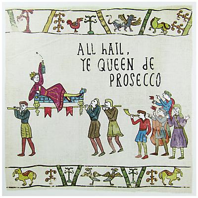 Woodmansterne Queen De Prosecco Greeting Card