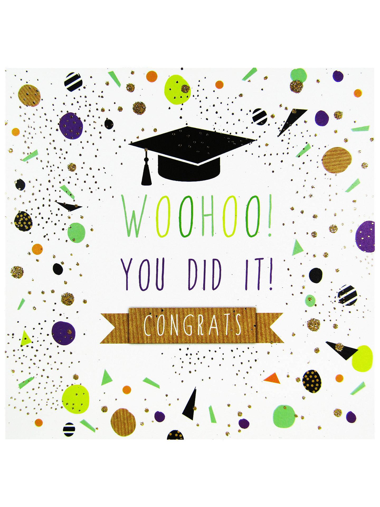 Portfolio Woohoo Congrats Graduation Greeting Card At John Lewis