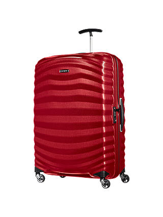 Buy Samsonite Lite-Shock 4-Wheel 75cm Large Suitcase, Chilli Red Online at johnlewis.com