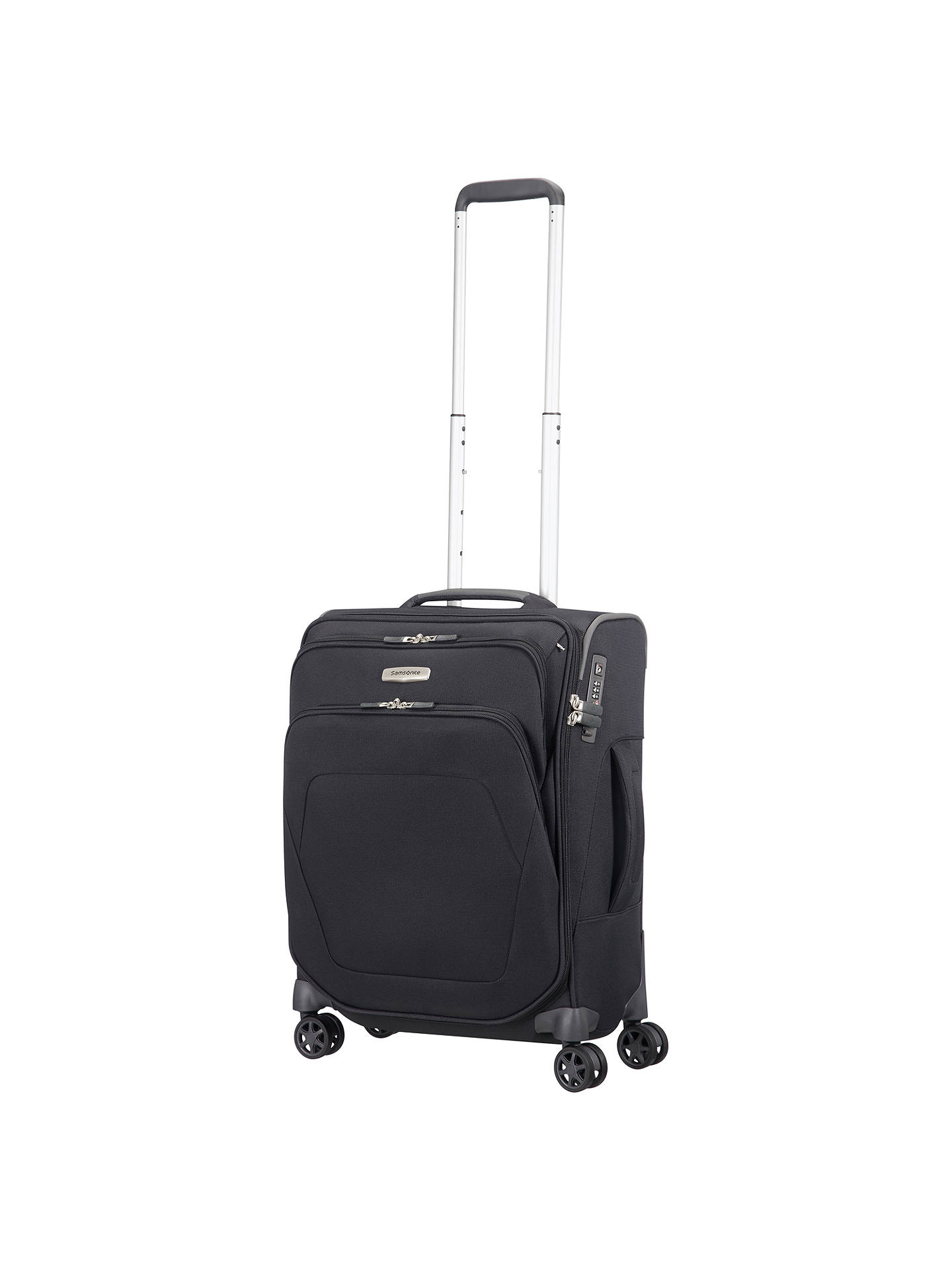 BuySamsonite Spark SNG 55cm 4-Wheel Cabin Case, Black Online at johnlewis.com