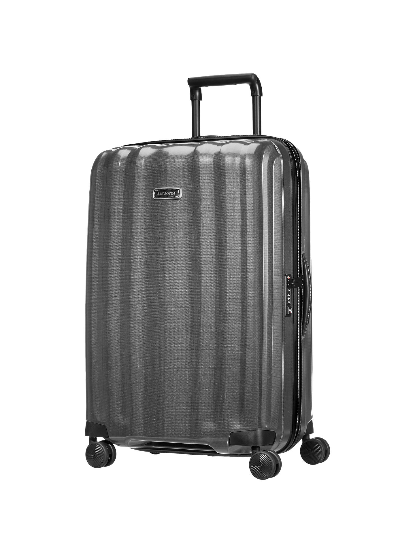 BuySamsonite Litecube DLX Spinner 4-Wheel 76cm Suitcase, Eclipse Grey Online at johnlewis.com