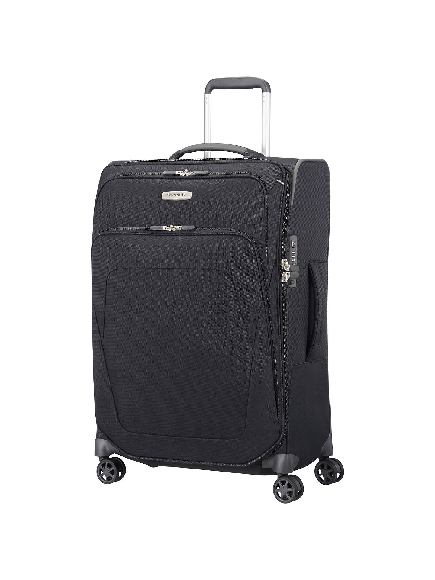 15a67b75628 BuySamsonite Spark SNG 67cm 4-Wheel Suitcase, Black Online at johnlewis.com  ...