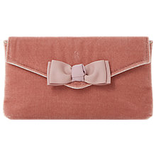 Buy Dune Breya Bow Clutch Bag, Pink Online at johnlewis.com