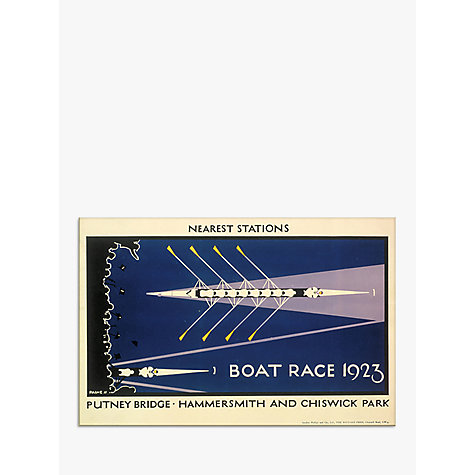 Buy London Transport Museum - Boat Race Print, 30 x 40cm Online at johnlewis.com