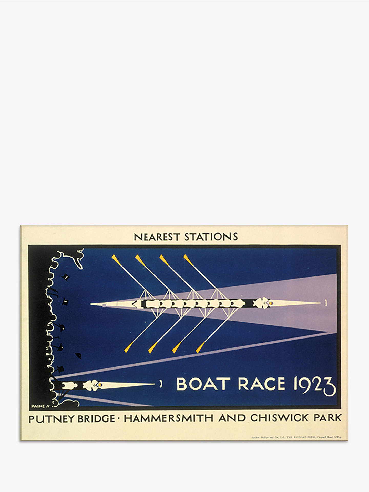 BuyLondon Transport Museum - Boat Race Print, 30 x 40cm Online at johnlewis.com