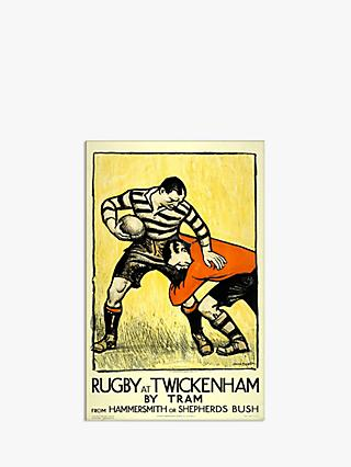 London Transport Museum - Rugby At Twickenham Print & Mount, 30 x 40cm