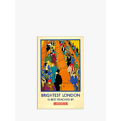 Image of London Transport Museum - Brightest London is Reached by Underground Print & Mount, 30 x 40cm