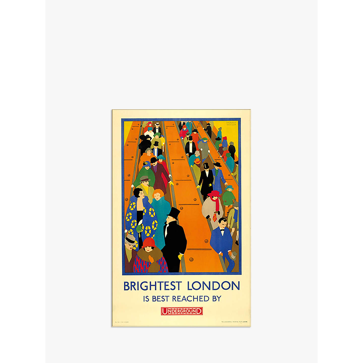 BuyLondon Transport Museum - Brightest London is Reached by Underground Print, 30 x 40cm Online at johnlewis.com