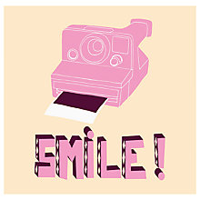 Buy House by John Lewis, Hello Marine - Smile Polaroid Unframed Print, 30 x 40cm Online at johnlewis.com